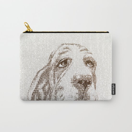 Old Wise Basset Carry-All Pouch
