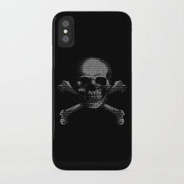 Hacker Skull and Crossbones iPhone Case