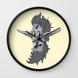Retro Three-Eyed Elvish Lad Wall Clock