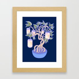 Peach Tree Framed Art Print