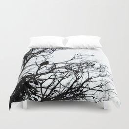 Dove Bird & Winter tree Silhouette Duvet Cover