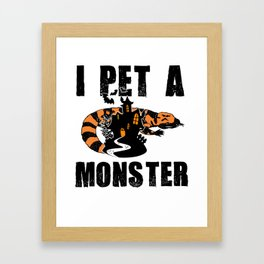 Gila Monster Halloween Venomous Lizard Pet Owner Light Framed Art Print