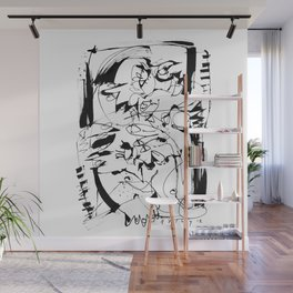 Ups and Downs - b&w Wall Mural