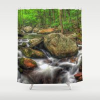 running Shower Curtains featuring Running Cold by ThePhotoGuyDarren
