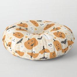 Pumpkin Party on Beige Floor Pillow
