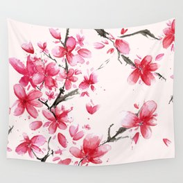Cherry Blossoms in Spring Wall Tapestry