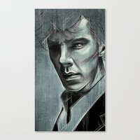 cumberbatch Canvas Prints featuring Benedict Cumberbatch by Schwebewesen • Romina Lutz