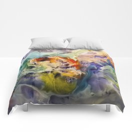 Heart Watercolor Abstract Painting Comforters