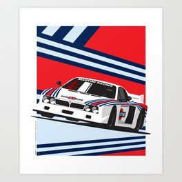 Lancia Beta Montecarlo Art Print