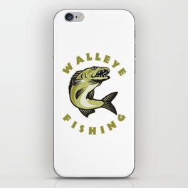 Walleye Fishing Gift for Men Fisherman Gift iPhone Skin