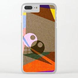 geometric eyes Clear iPhone Case