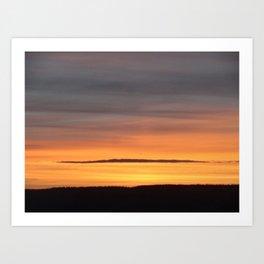 Burnished Sky Art Print