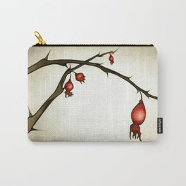 Mystery Garden: Red briar in a moonlit mist Carry-All Pouch
