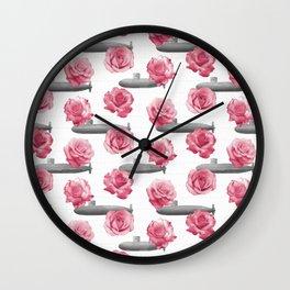 Subs and Roses Wall Clock