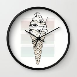 Eyes Cream Wall Clock