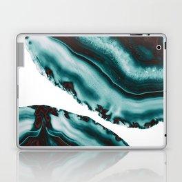 Turquoise Brown Agate #1 #gem #decor #art #society6 Laptop & iPad Skin