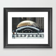 bean to cloud-gate recently? Framed Art Print