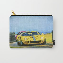 Yellow Ford GT40 Carry-All Pouch