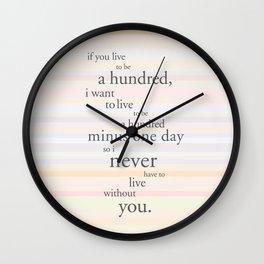 A hundred years Wall Clock