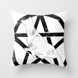 Stabity stab Throw Pillow