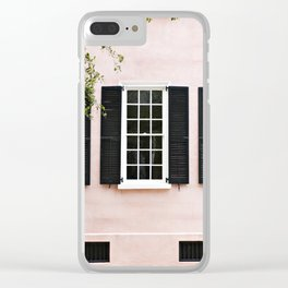 Pink Windows Clear iPhone Case