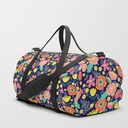 Night wild flowers Duffle Bag
