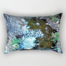 Stream Reflections at Dusk Rectangular Pillow