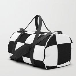 Check (Black & White Pattern) Duffle Bag