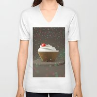 sprinkles V-neck T-shirts featuring Cupcakes & Sprinkles by Owaisj1