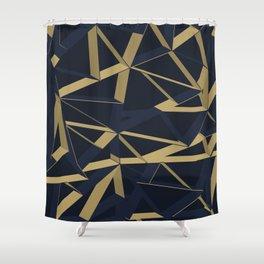 3D Futuristic GEO Lines XIV Shower Curtain