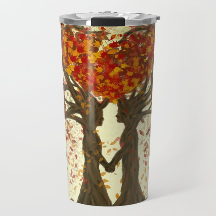Digital painting of the season of Autumn Travel Mug