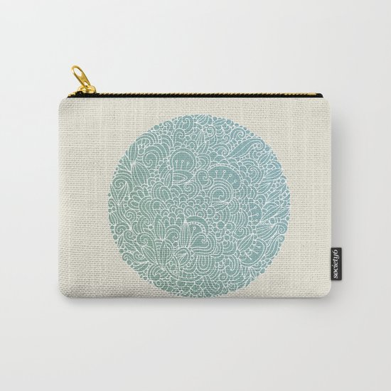 Detailed circle Carry-All Pouch