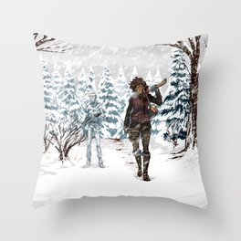 Under the Dead Skies - Snow Throw Pillow
