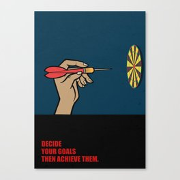Lab No. 4 - Decide Your Goals Then Achieve Them Corporate Start-Up Quotes Poster Canvas Print