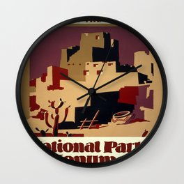 Vintage poster - Pueblos of the Southwest Wall Clock