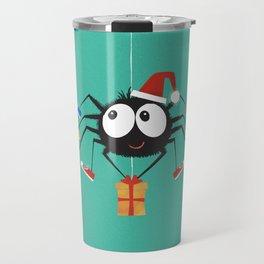 Happy Christmas Santa Spider Travel Mug