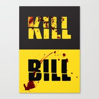 kill bill Canvas Prints featuring Kill Bill by Melis Kalpakçıoğlu