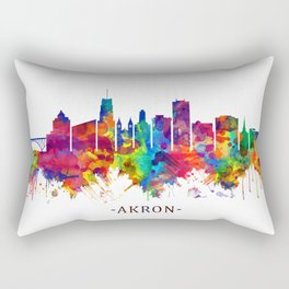 Akron Ohio Skyline Rectangular Pillow
