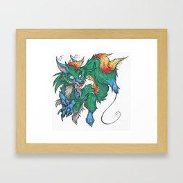 Floaty Chibi Charles Framed Art Print
