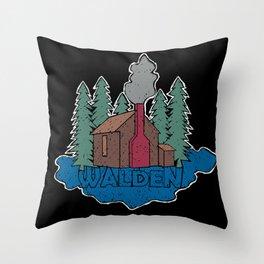 Walden - Henry David Thoreau (Coloured textured version) #society6 #decor #buyart Throw Pillow
