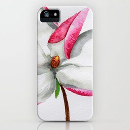 Watercolour Magnolia iPhone Case