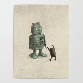 Robot Vs Alien Poster