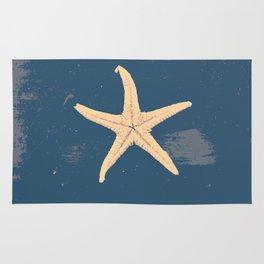 blue seashell Rug