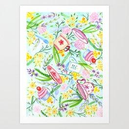 Spring High Tea Art Print
