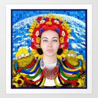 ukraine Art Prints featuring Ukraine by Exclusivity