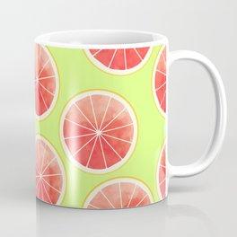 Pink Grapefruit Slices Pattern Coffee Mug