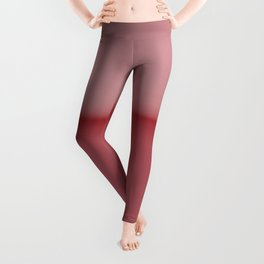 Soft Blush Pink Two Toned Abstract Leggings