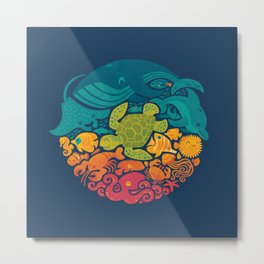 Aquatic Rainbow Metal Print