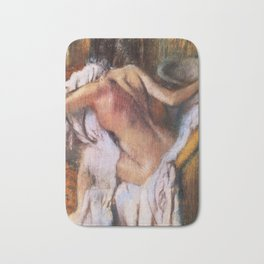 After The Bath Woman Drying Herself 1892 By Edgar Degas | Reproduction | Famous French Painter Bath Mat