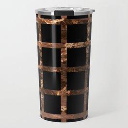 Copper Black Squares Travel Mug